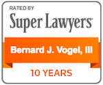 Bernard Vogel, III Super Lawyer Badge