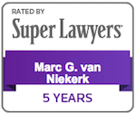 Marc van Niekerk Super Lawyer Badge